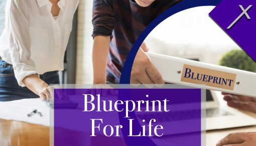 Front of Blueprint For Life Business Card