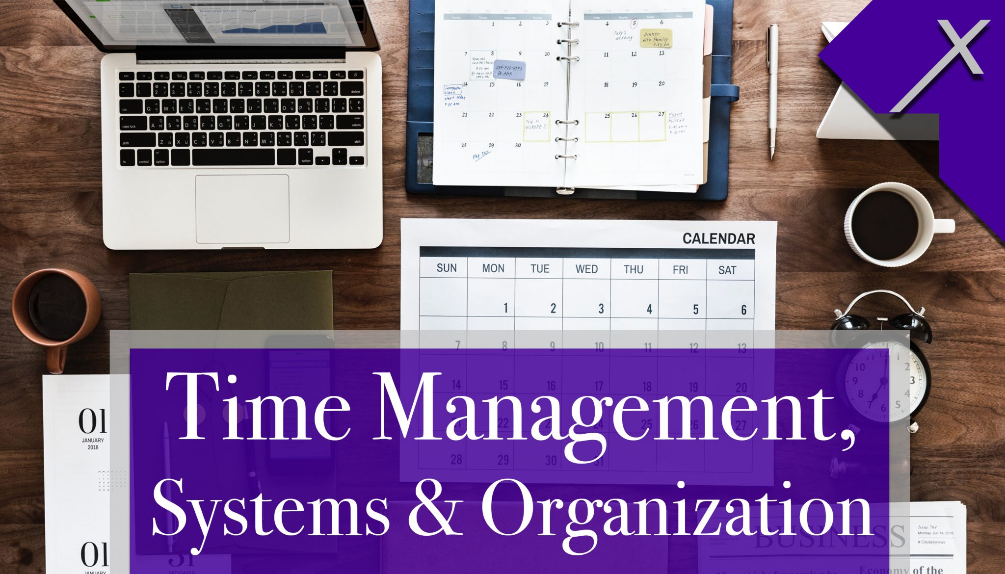 Front of Time Management Business Card