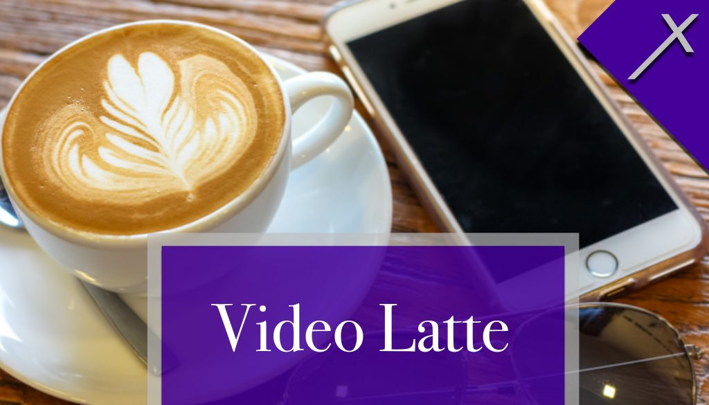 Front of Video Latte Business Card