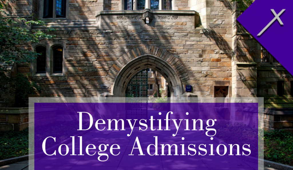 Front of Demysifying College Admissions Business Card